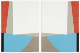 Sarah Crowner-Untitled (Diptych)-2011