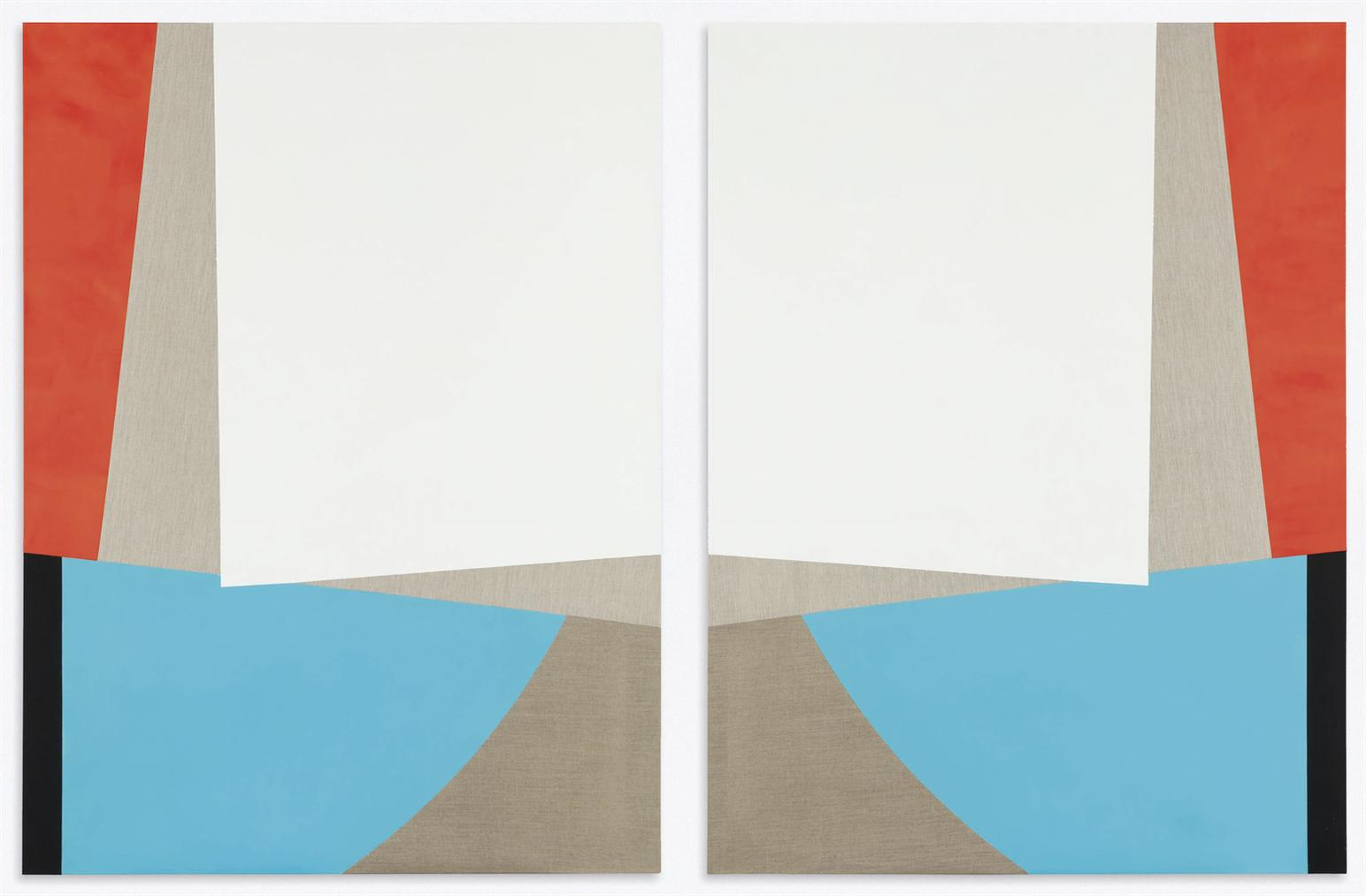Sarah Crowner-Untitled (Diptych)-2011
