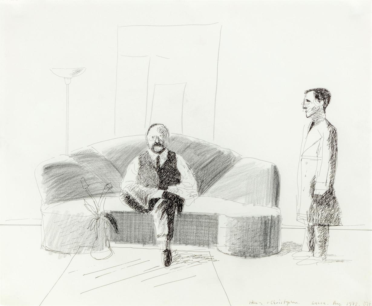 David Hockney-Henry And Christopher-1973