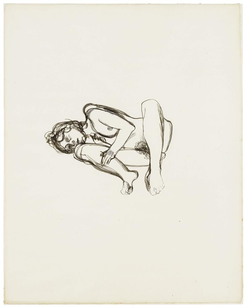 Lucian Freud-Drawing For Naked Figure-1973