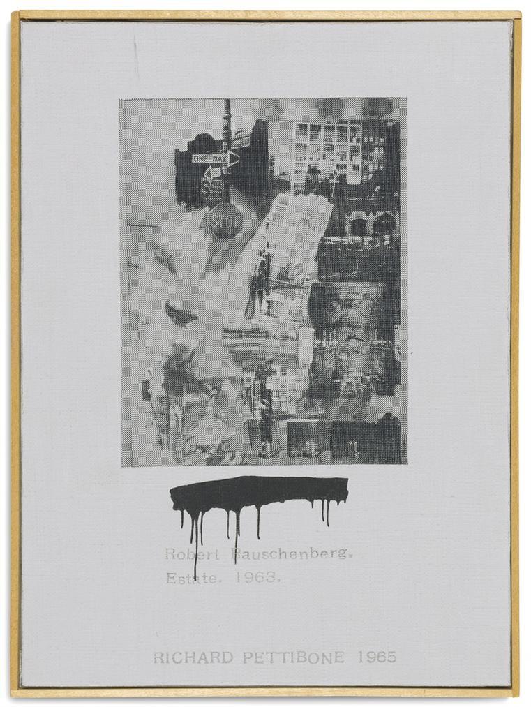 Richard Pettibone-Robert Rauschenberg, Estate, 1963-1965