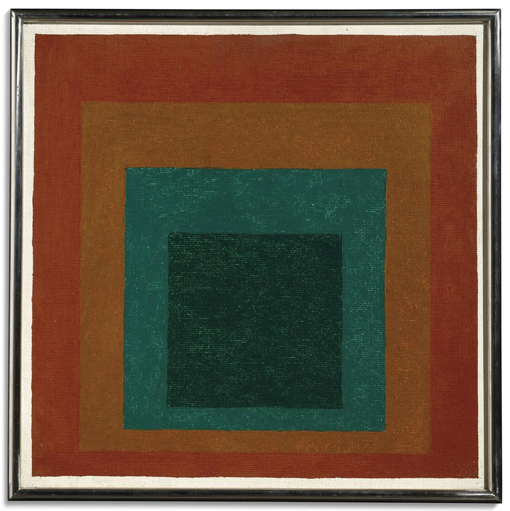 Josef Albers-Study For Homage To The Square: Michoacan-1960