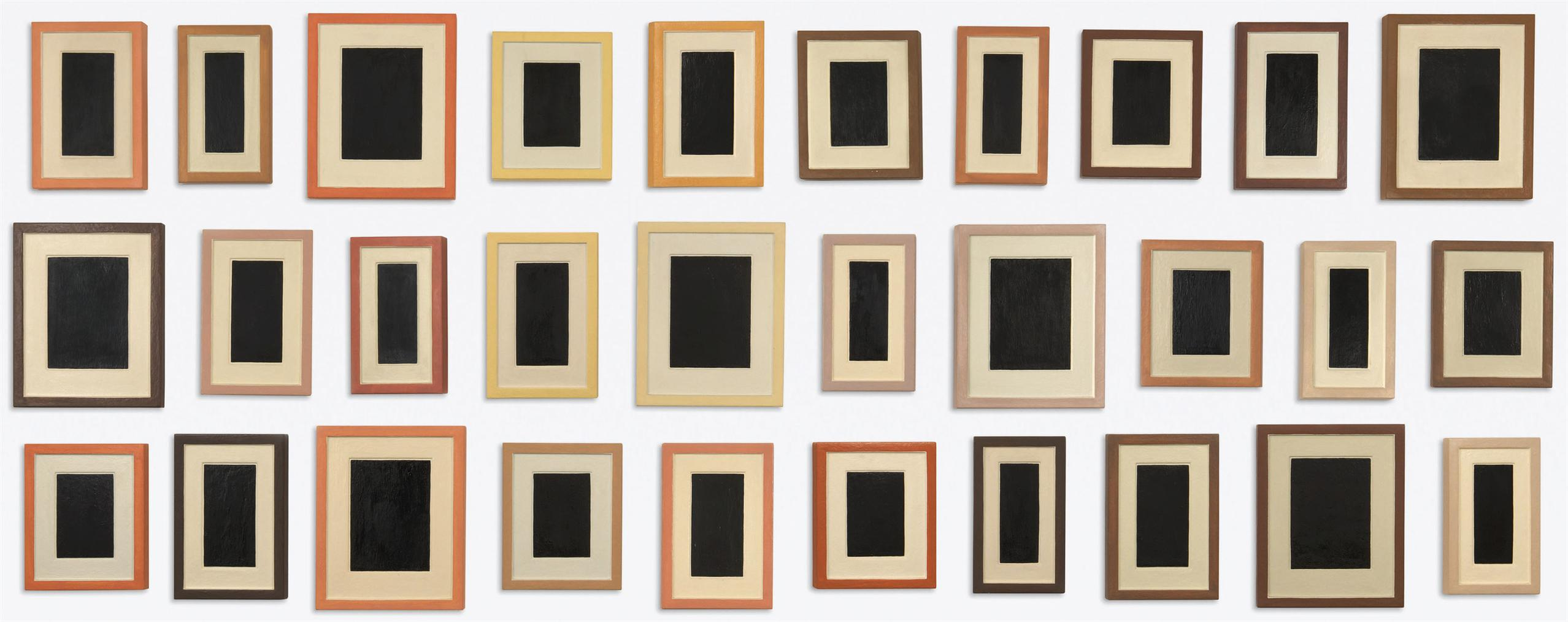 Allan McCollum-Collection Of Thirty Plaster Surrogates-1990