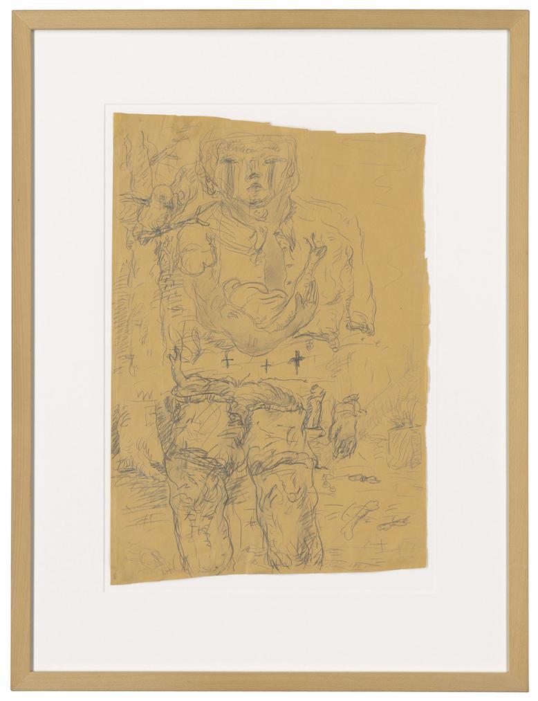 Georg Baselitz-Untitled (Hirte (Shepherd))-1967