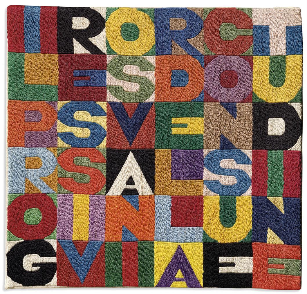 Alighiero Boetti-Il Progressivo Svanir Della Consuetudine (The Progressive Disappearance Of Habit)-1990