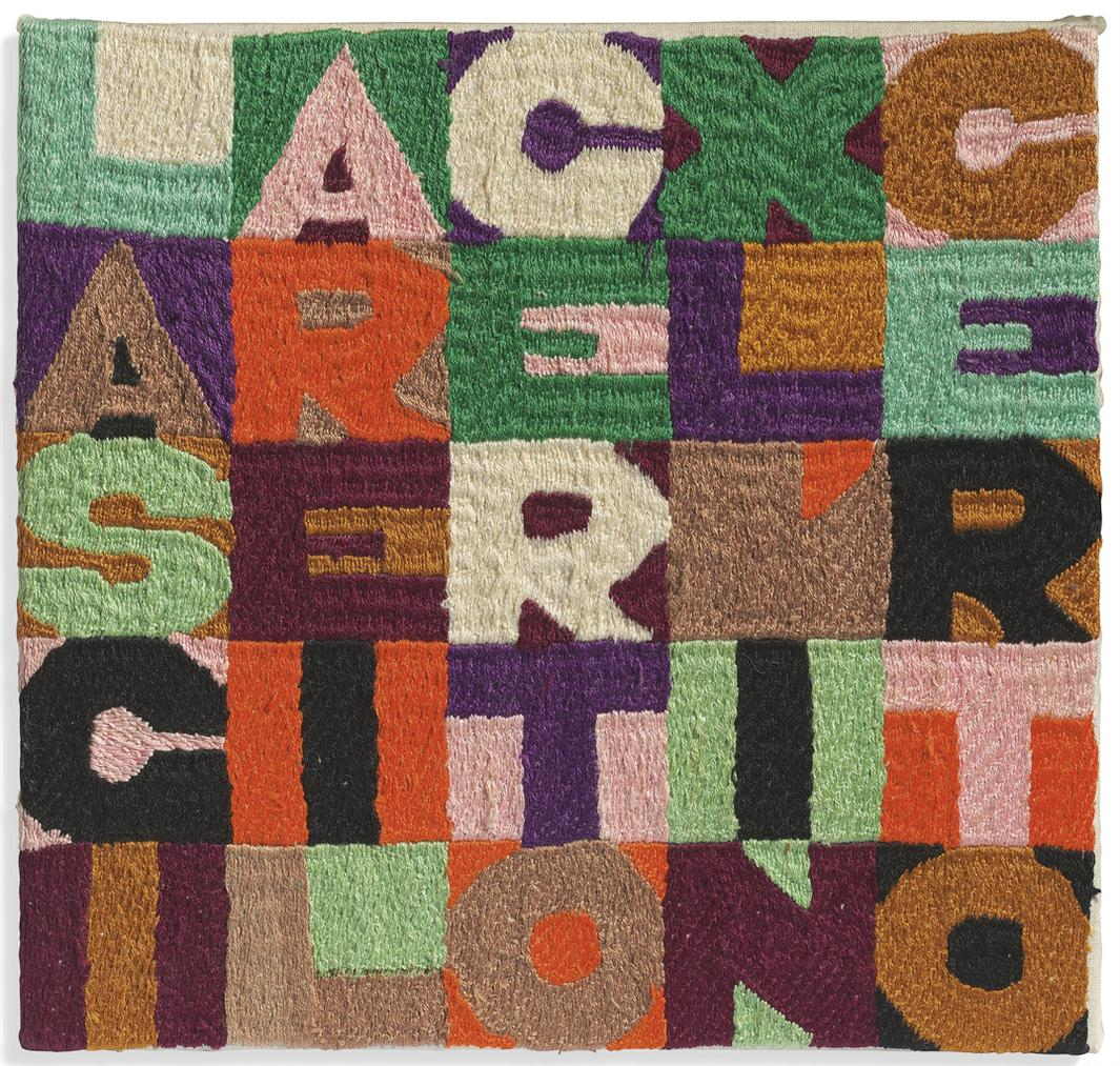 Alighiero Boetti-Lasciare Il Certo Per Lincerto (Leave The Certain For The Uncertain)-1988