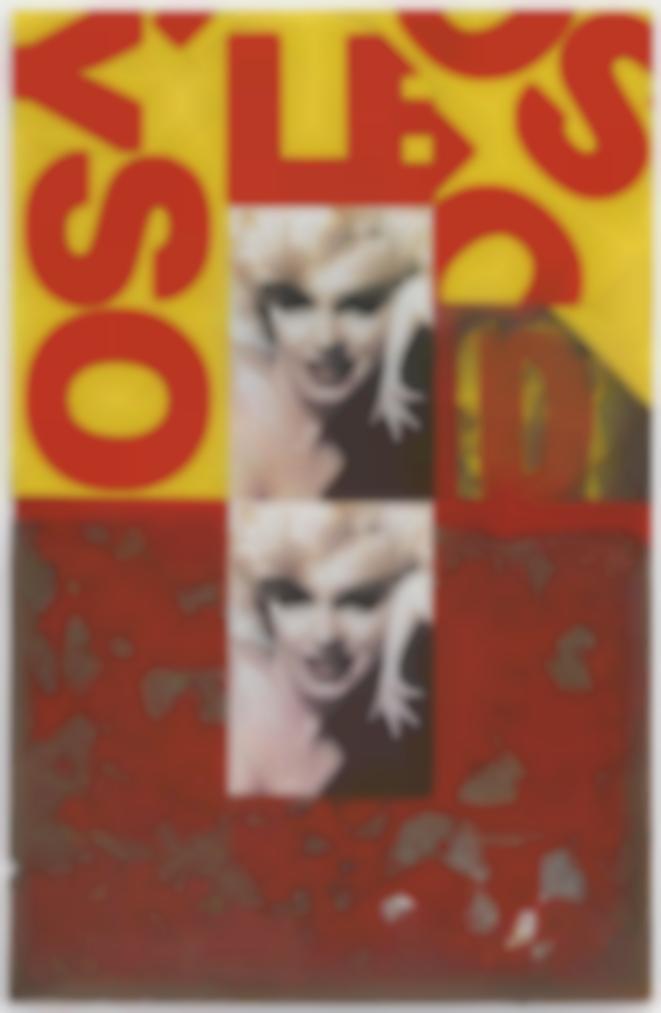 Peter Blake-Marilyn Monroe, Merz, Red & Yellow-1990