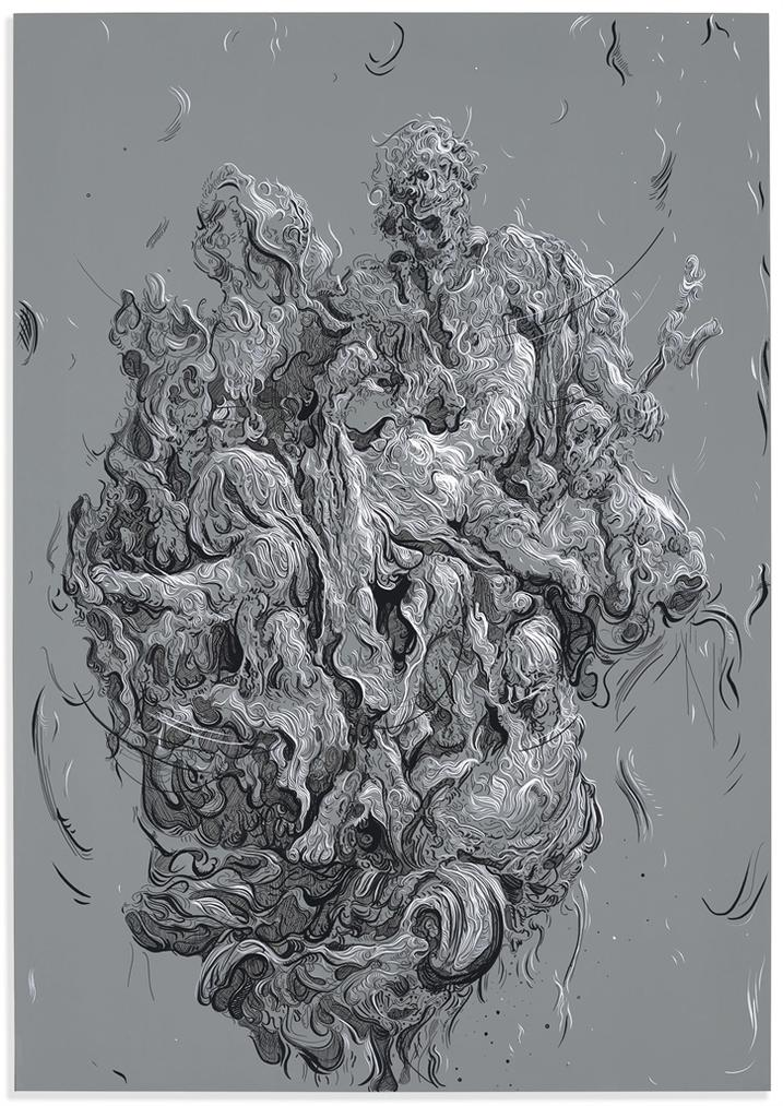 Glenn Brown-Drawing 42 (After Boucher)-2015