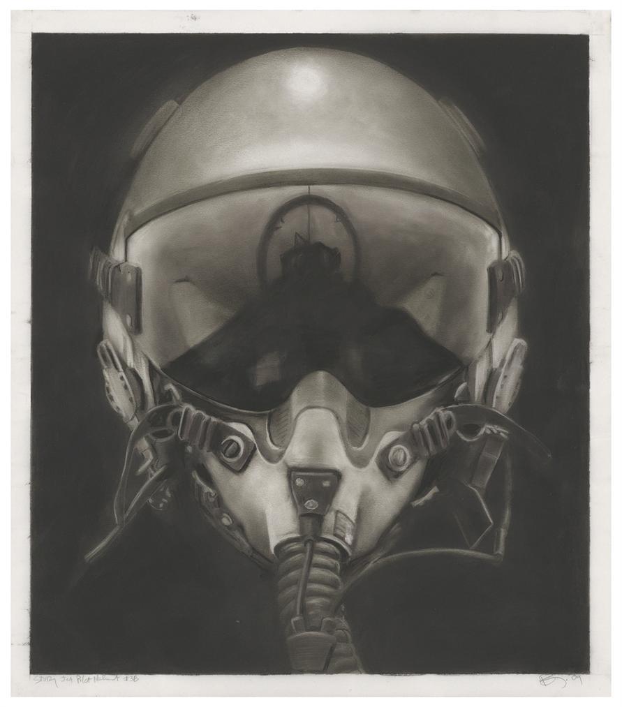 Robert Longo-Study For Jet Pilot Helmet #3B-2009