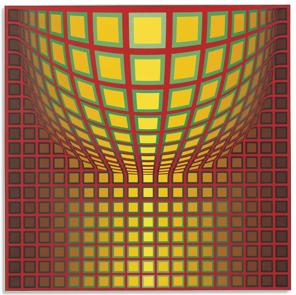 Victor Vasarely-Miche-1989