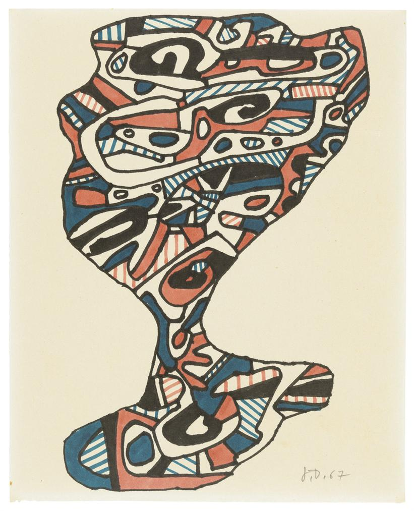 Jean Dubuffet-Verre Deau (Glass Of Water)-1967