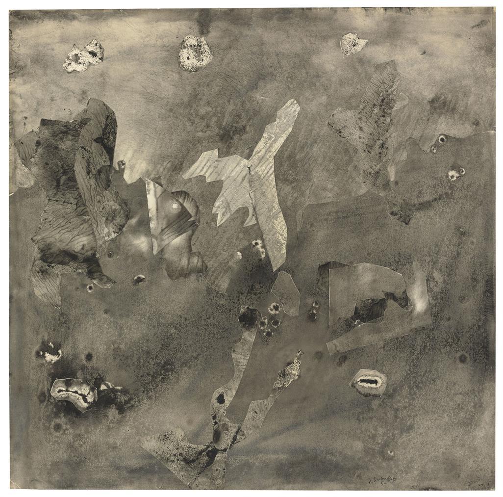 Jean Dubuffet-Paysage Des Perceptions Distraites (Landscape With Distorted Perceptions)-1954