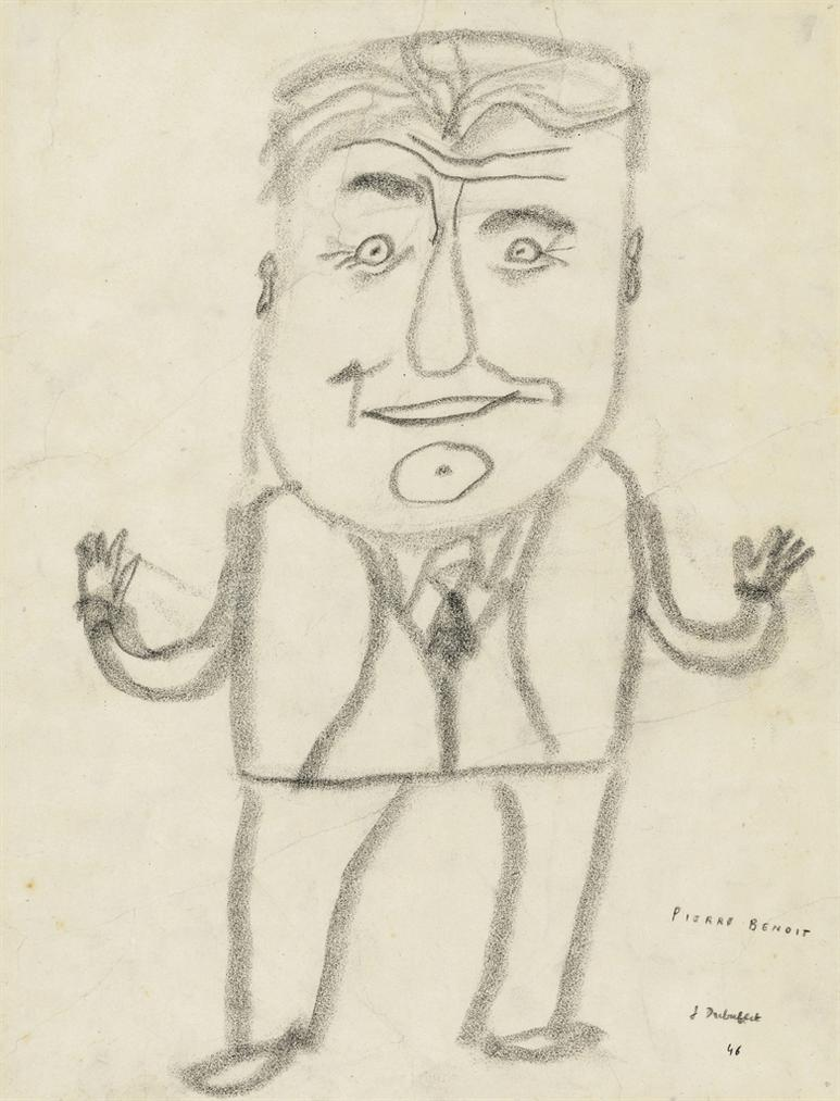 Jean Dubuffet-Portrait De Pierre Benoit (Portrait Of Pierre Benoit)-1946