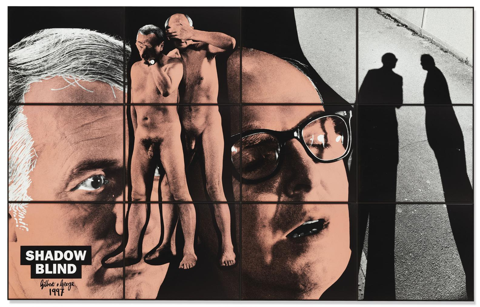Gilbert and George-Shadow Blind-1997