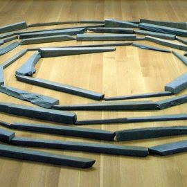 Richard Long-Green Slate Spiral-1980