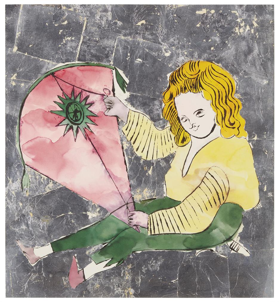 Andy Warhol-Child With Kite-1957