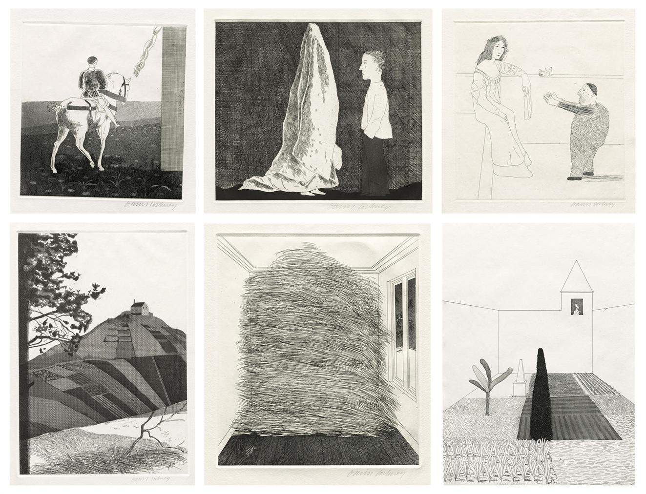 David Hockney-Illustrations For Six Fairy Tales From The Brothers Grimm-1970