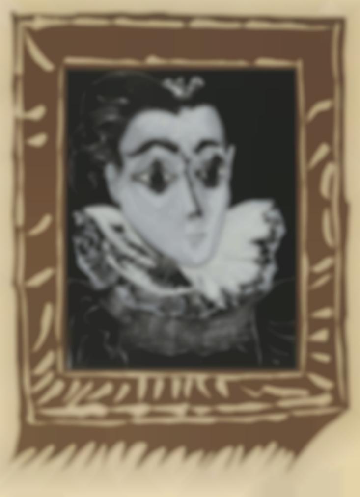 Pablo Picasso-La Dame A La Collerette-1962