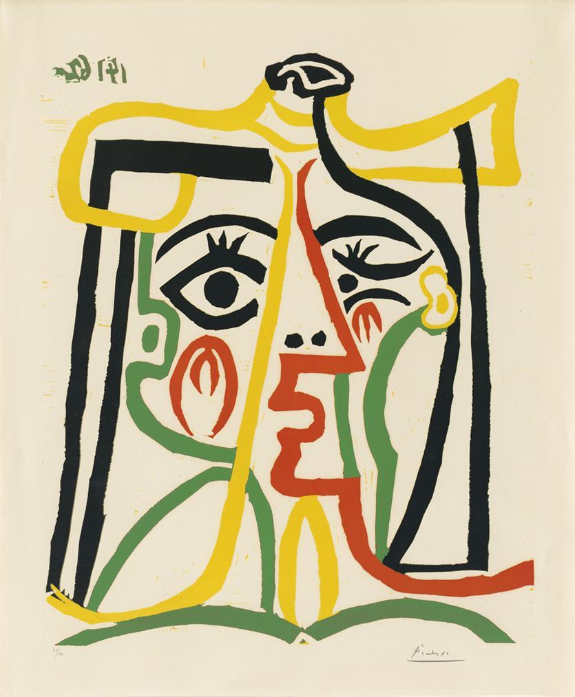 Pablo Picasso-Tete De Femme-1962