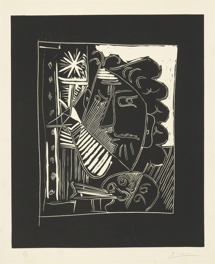 Pablo Picasso-Le Peintre A La Palette-1963
