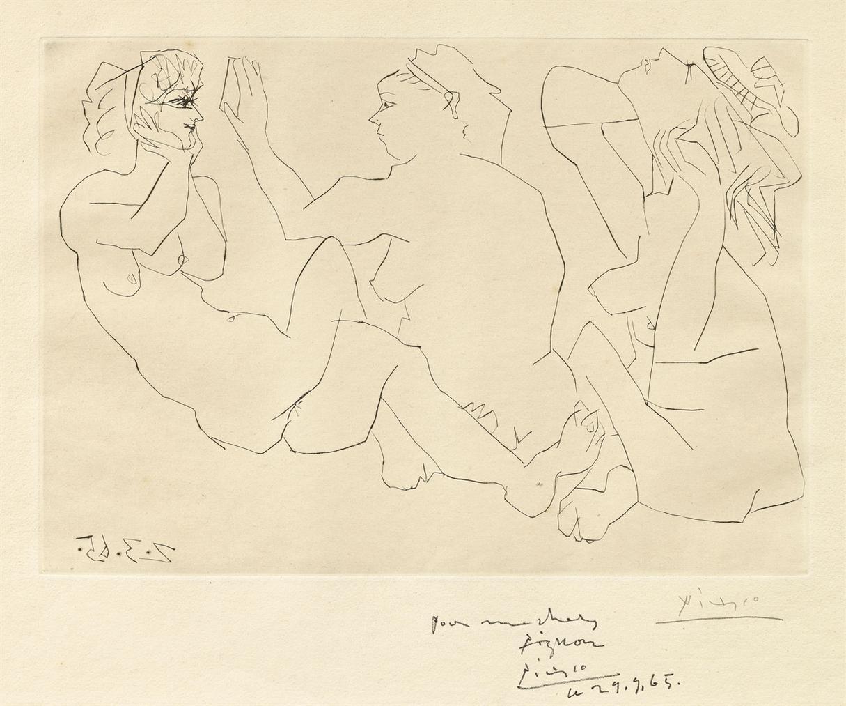 Pablo Picasso-Trois Femmes-1965