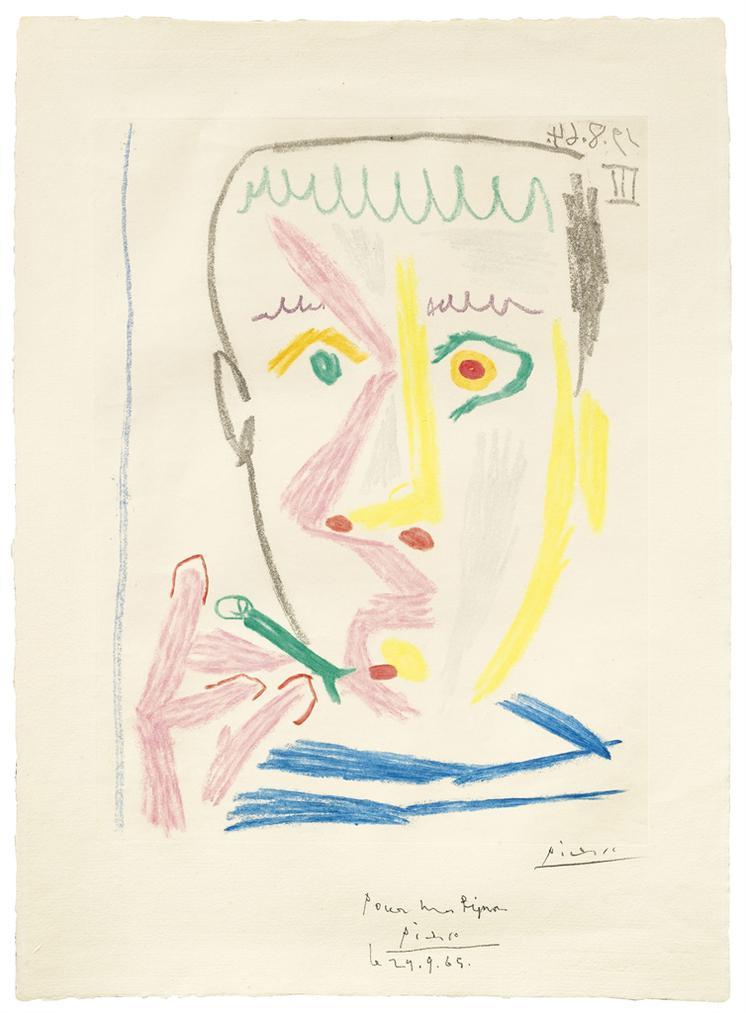 Pablo Picasso-Fumeur Ii-1964