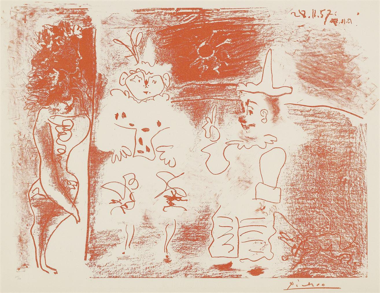 Pablo Picasso-Lecuyere Et Les Clowns-1957