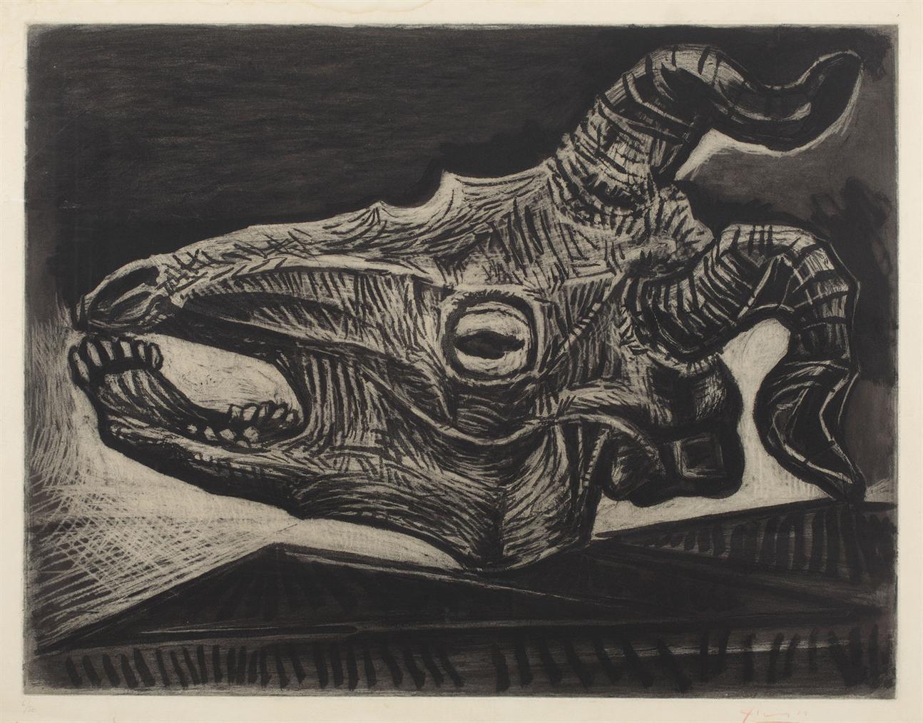 Pablo Picasso-Crane De Chevre Sur La Table-1952