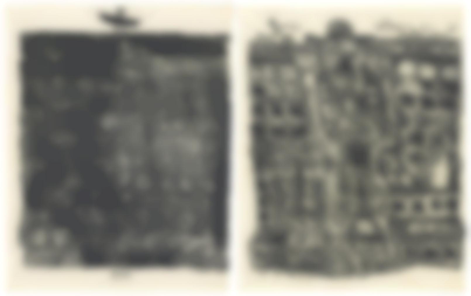 Jean Dubuffet-Les Murs - 12 Poemes De Guillevic-1945