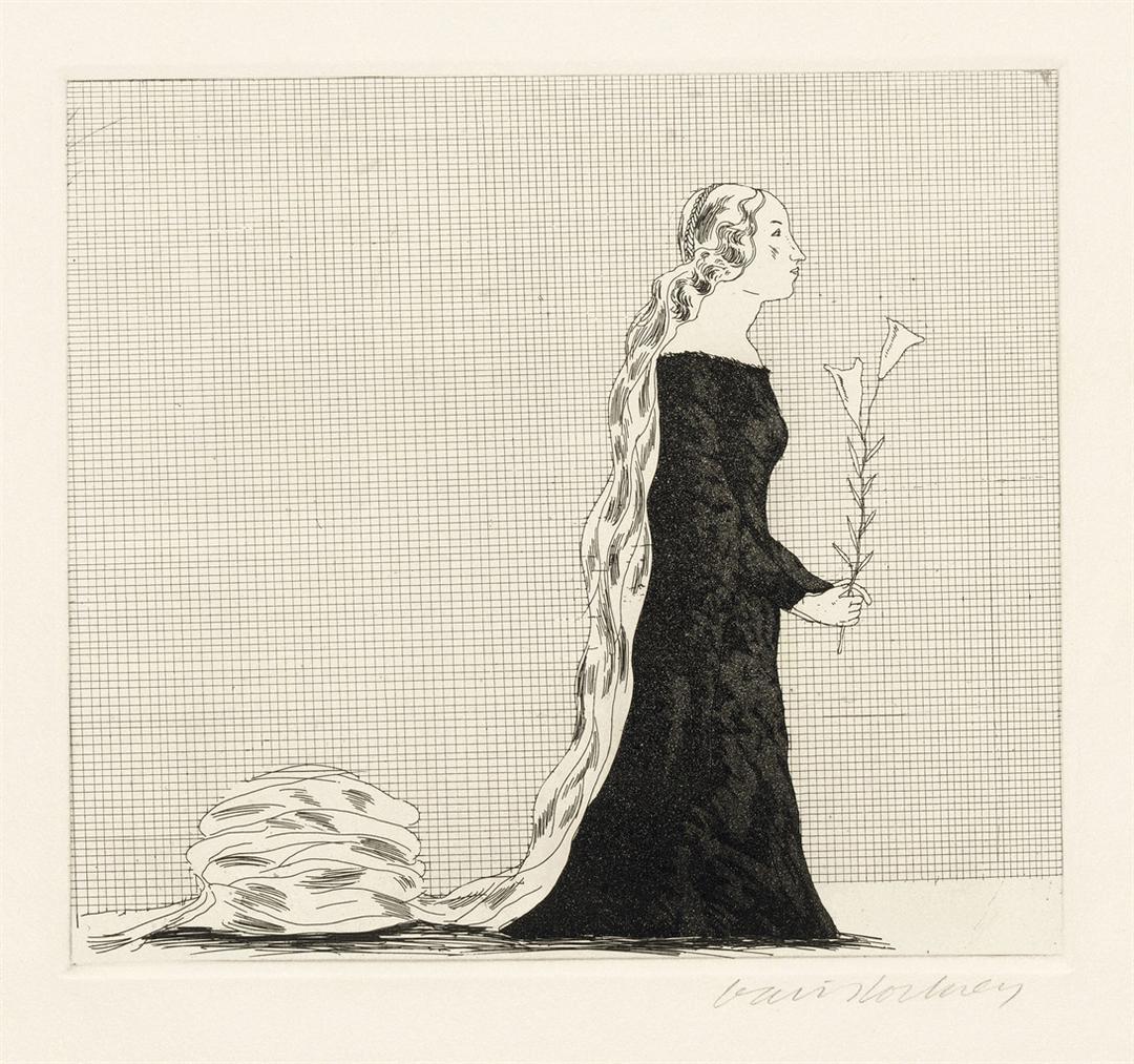 David Hockney-The Older Rapunzel, From: Six Fairy Tales-1969