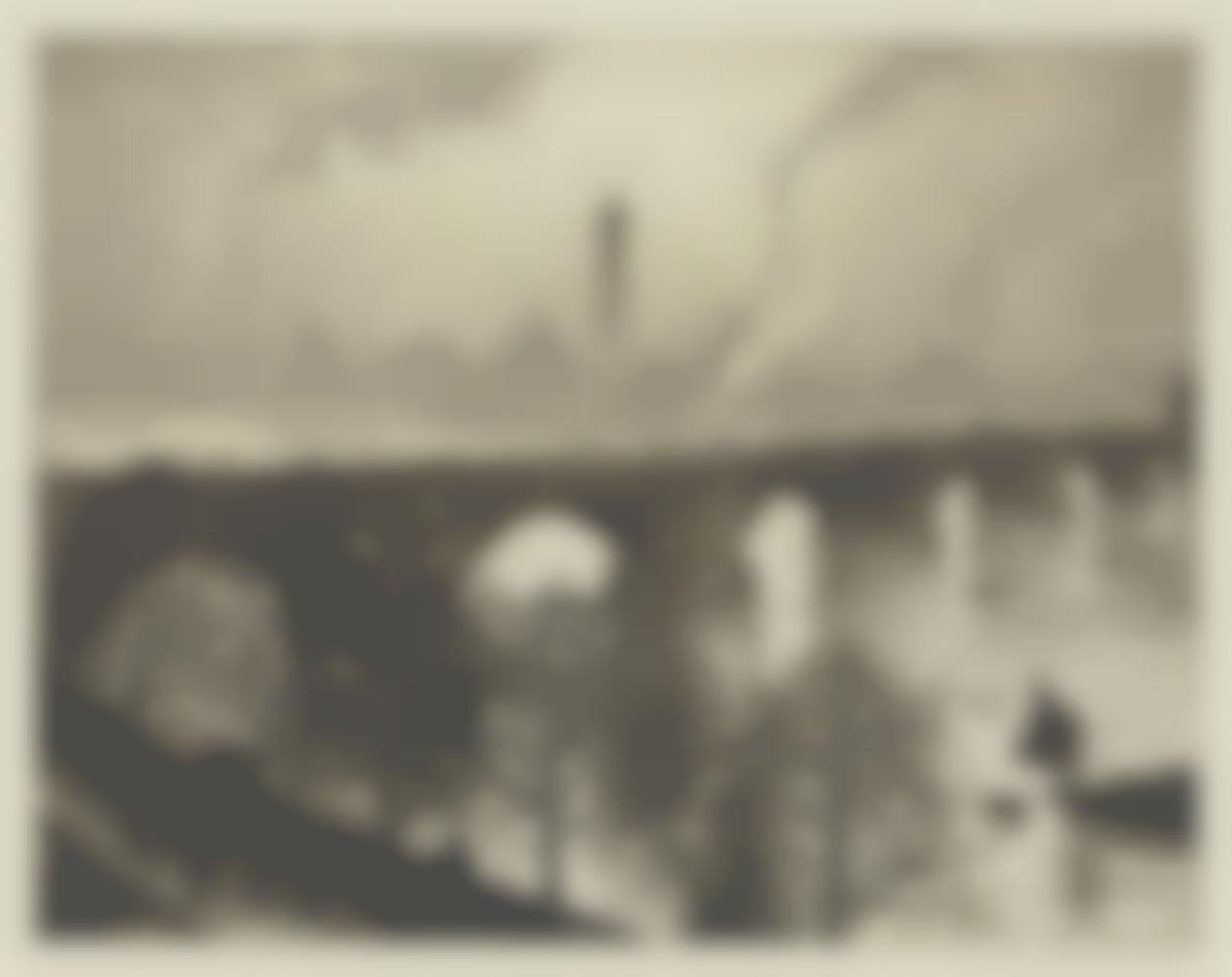 Christopher R. W. Nevinson-Waterloo Bridge From A Savoy Window-1926