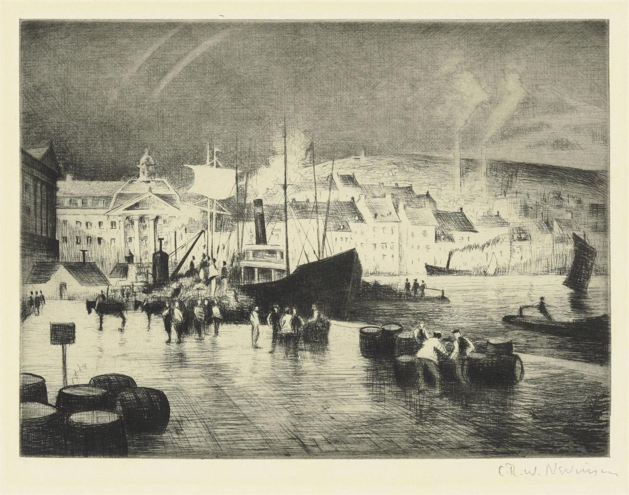 Christopher R. W. Nevinson-A French Port (Bordeaux)-1922