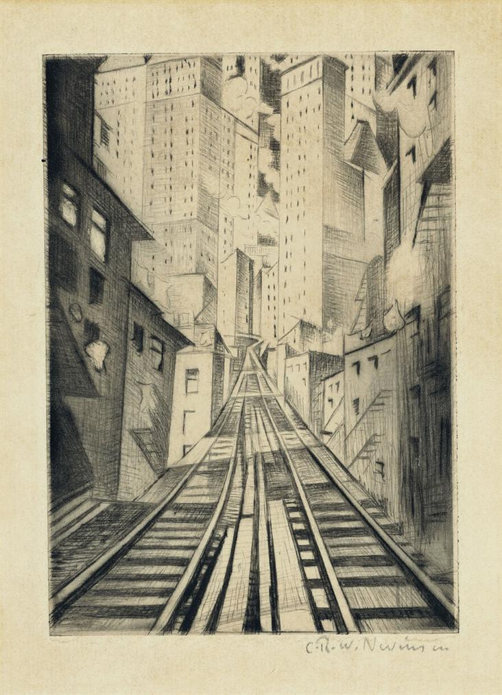 Christopher R. W. Nevinson-New York: An Abstraction-1921