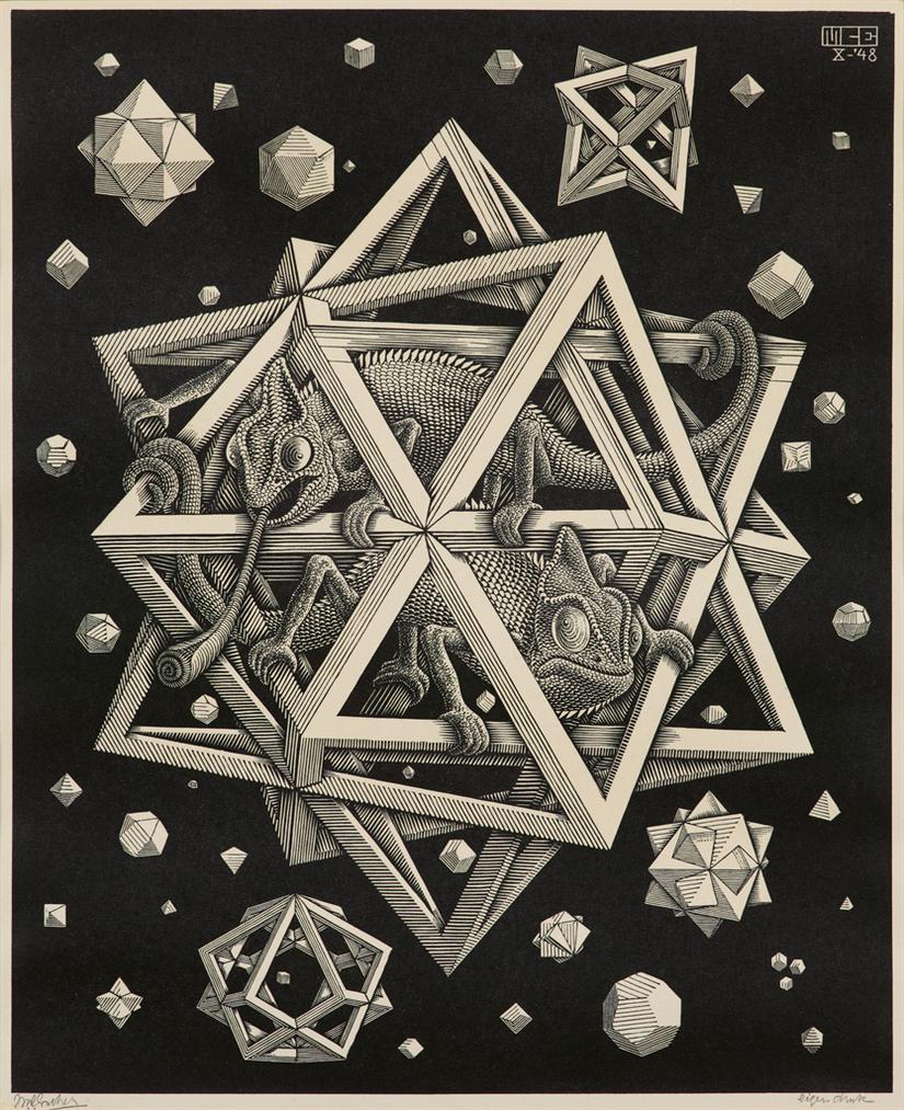 Maurits Cornelis Escher-Stars-1948
