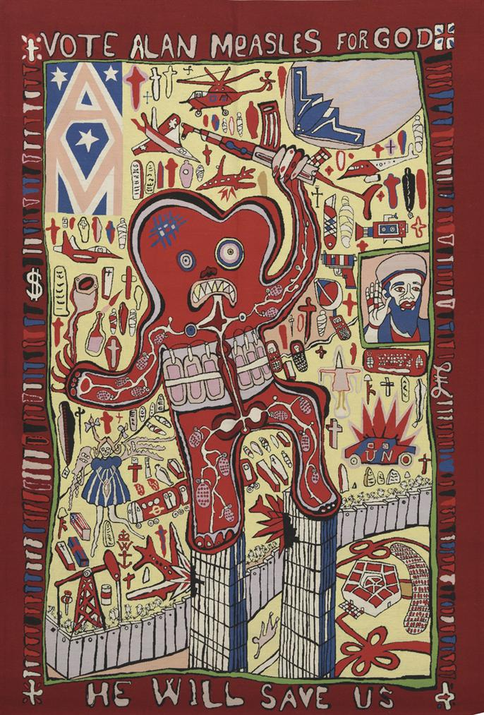 Grayson Perry-Vote Alan Measles For God, From: Banners Of Persuasion-2008