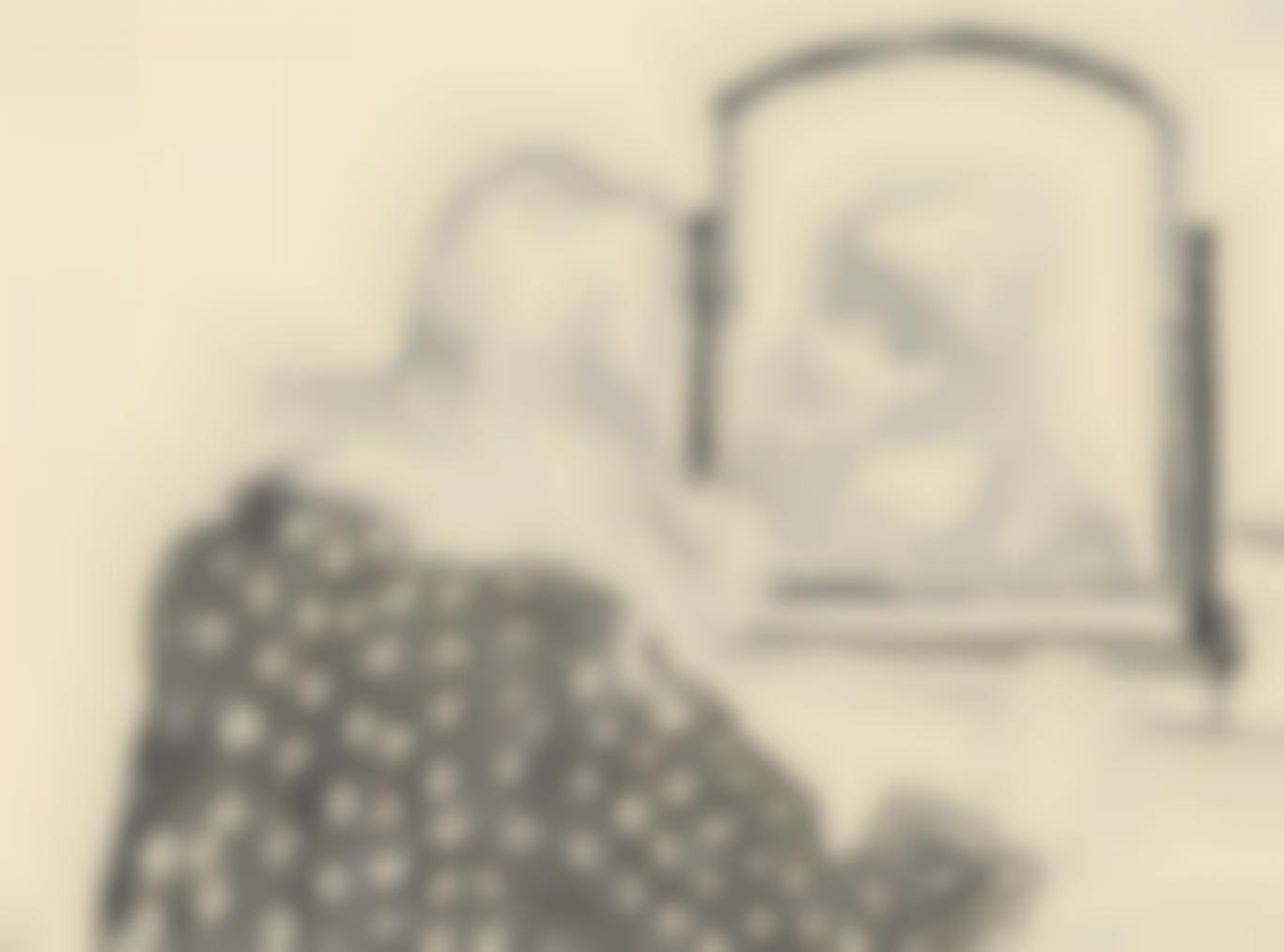 David Hockney-Ann Combing Her Hair-1979