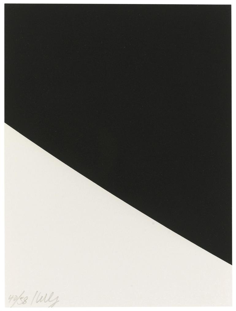 Ellsworth Kelly-Blue Curve (Black State)-2000