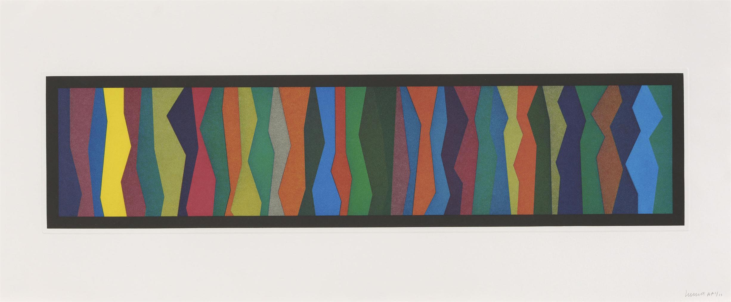 Sol LeWitt-Irregular Zigzag Bands-1996