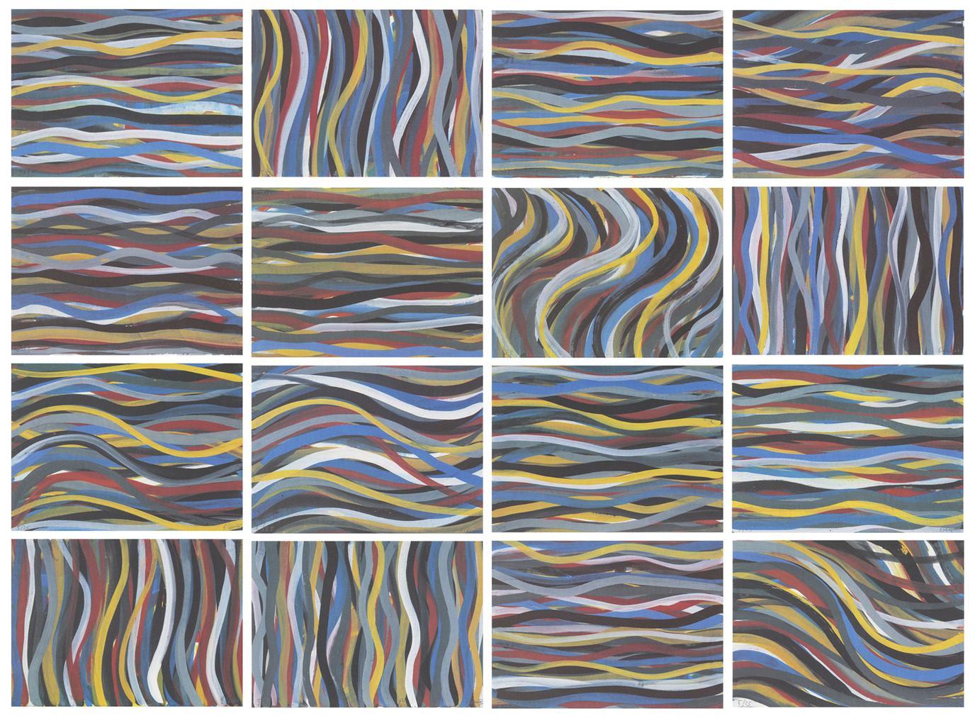 Sol LeWitt-Brushtrokes: Horizontal And Vertical-1996