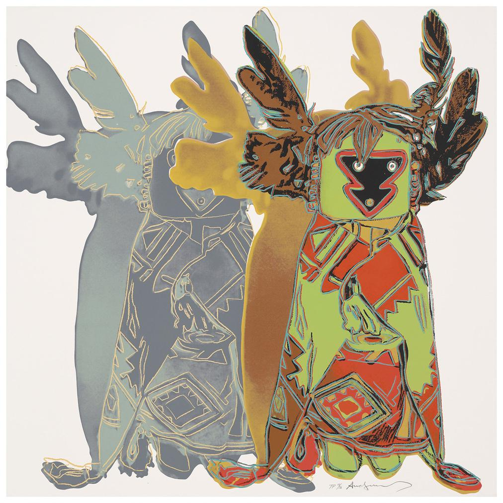 Andy Warhol-Kachina Dolls, From: Cowboys And Indians-1986