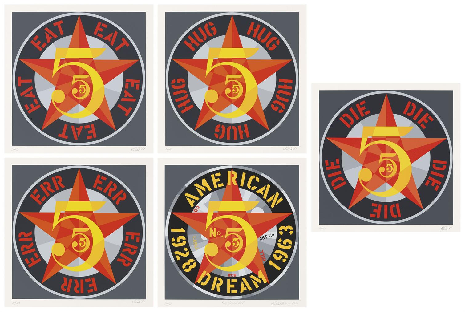Robert Indiana-American Dream No. 5 (The Golden Five)-1980
