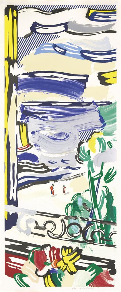 Roy Lichtenstein-View From The Window, From: Landscape Series-1985
