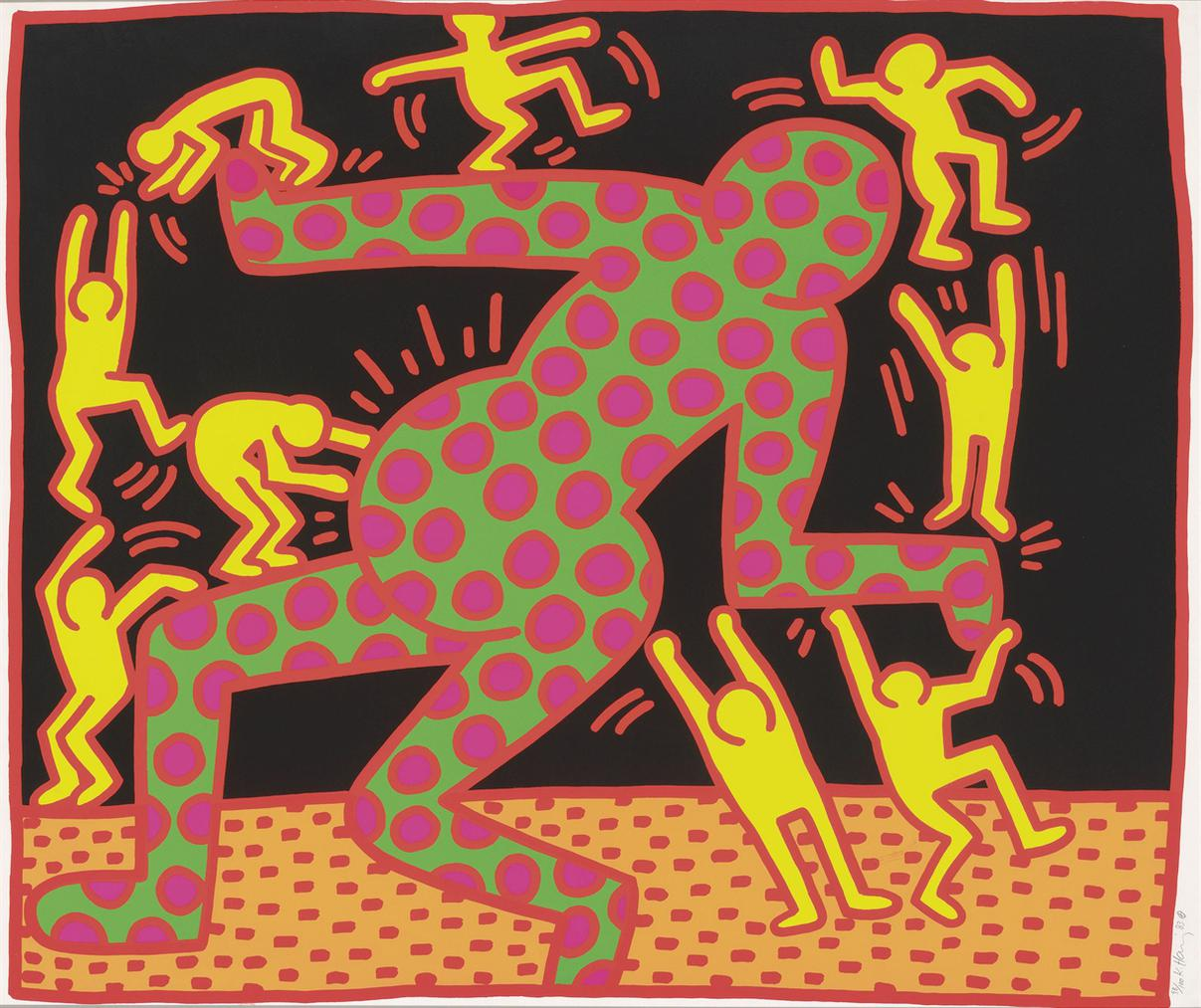 Keith Haring-The Fertility Suite: One Plate-1983