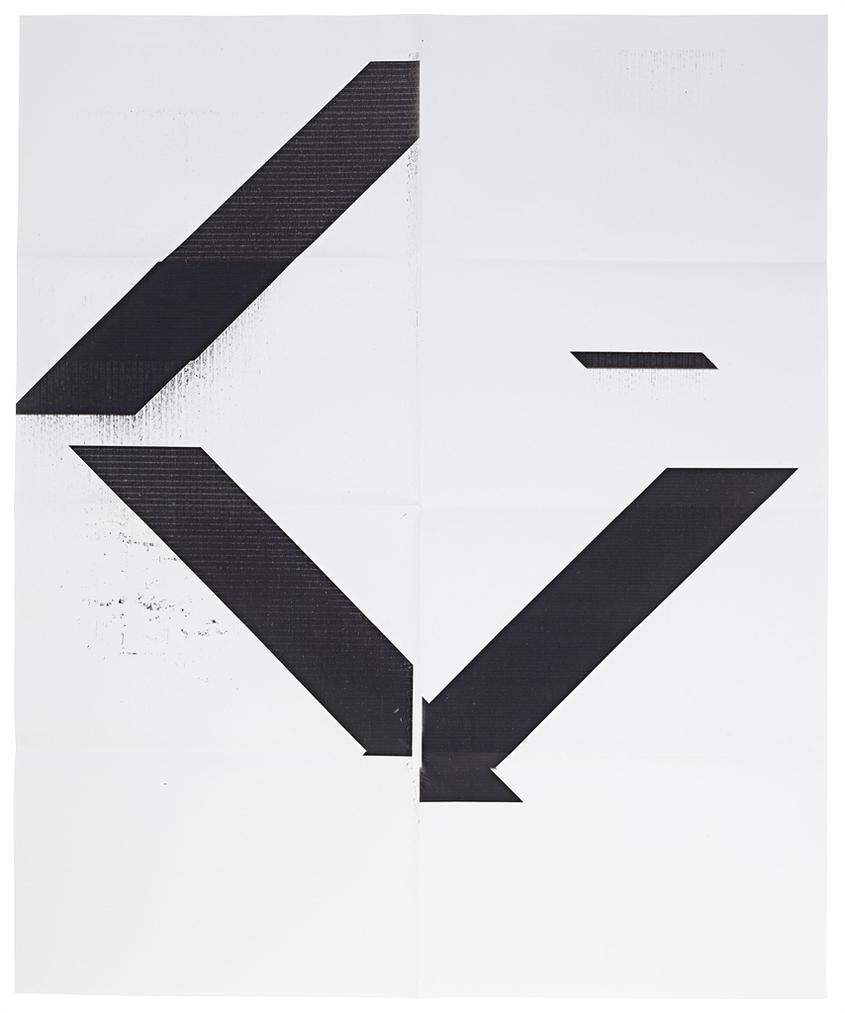 Wade Guyton-X Poster (Untitled, 2007, Epson Ultrachrome Inkjet On Linen, 84 X 69 Inches, Wg1208)-2017