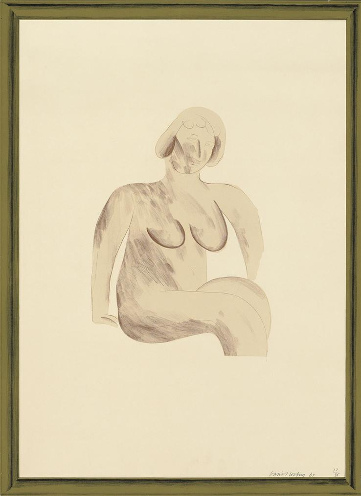 David Hockney-Picture Of A Simple Framed Traditional Nude Drawing, From: A Hollywood Collection-1965