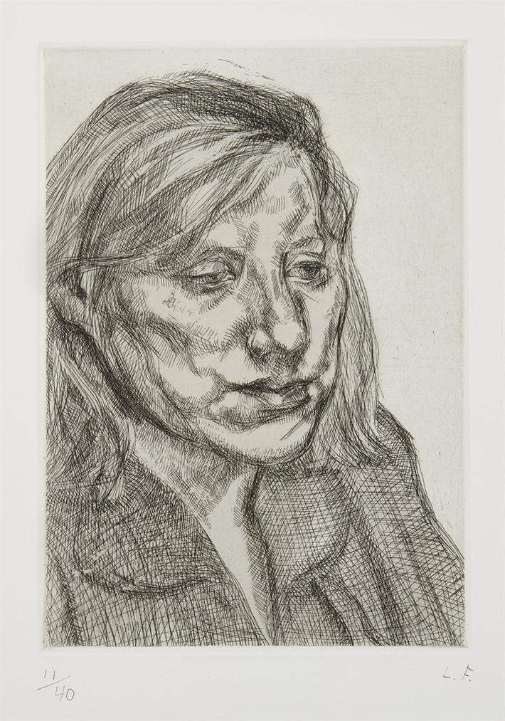 Lucien Freud - Head Of Ib-1988