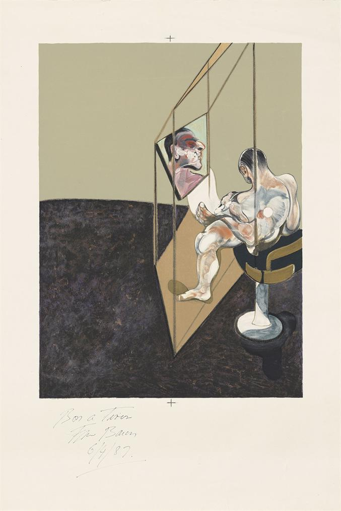 Francis Bacon-Right Panel, From: Three Studies Of The Male Back-1987