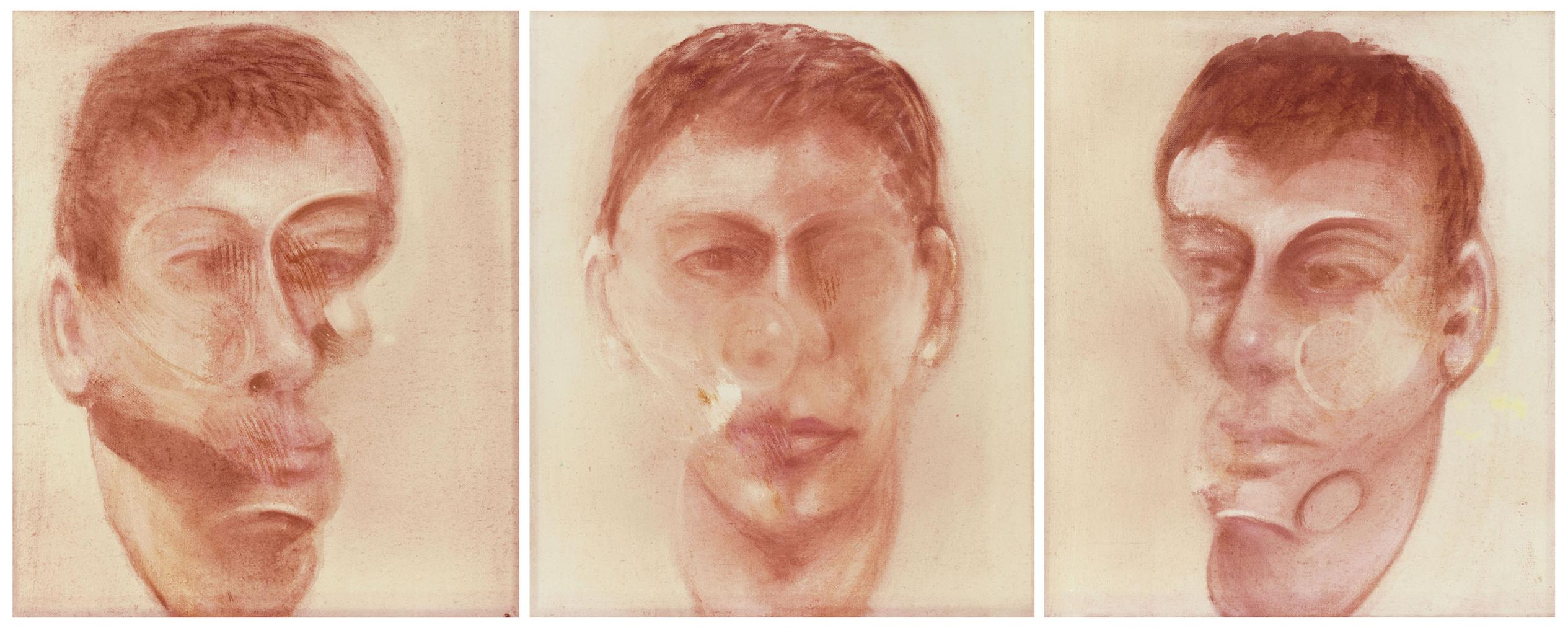 Francis Bacon-After Francis Bacon - Three Studies For A Portrait Of John Edwards-1980