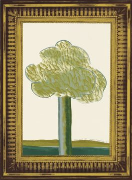 David Hockney-A Picture Of A Landscape In An Elaborate Gold Frame, From: A Hollywood Collection-1965