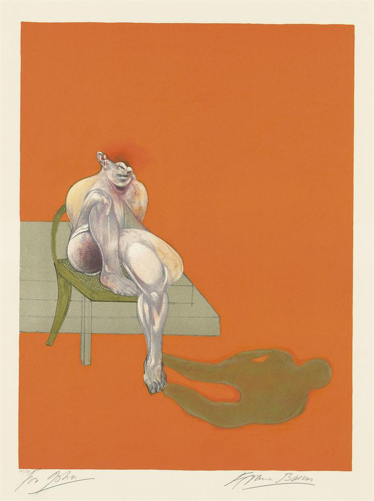 Francis Bacon-Triptych 1983 (Left Panel)-1983